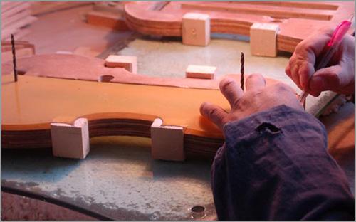 Marking the outline onto blocks