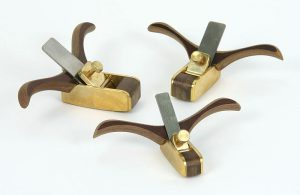 violin making tools - 301 - set of three planes, curved soles