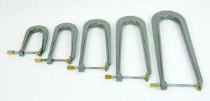 violin making tools - 316 - set of five aluminium clamps