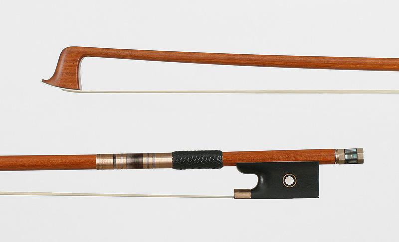 VLB005B - violin bow,  gold and ebony