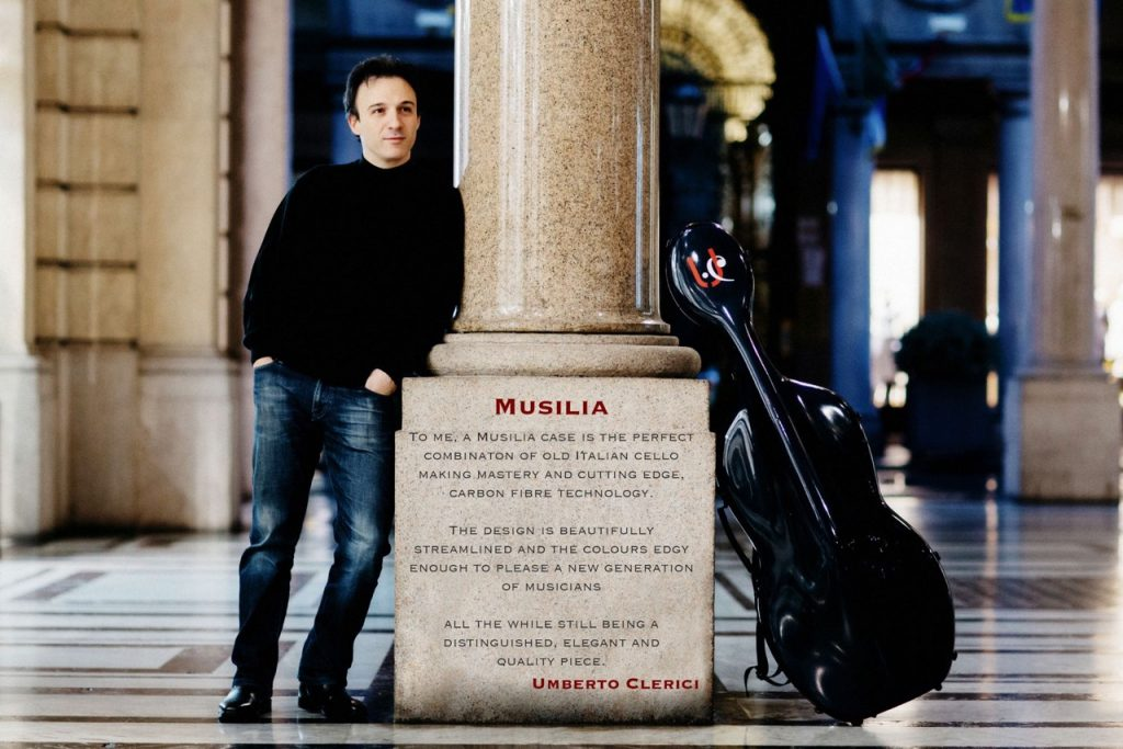 Musilia cello cases and Umbert Clerici