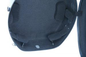 Musilia cello cases - MCC S2, detail of interior suspension system