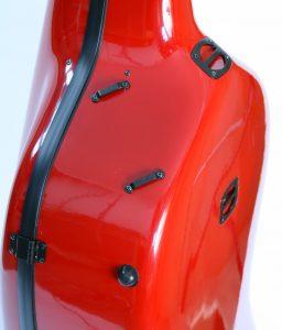 Musilia cello cases - MCC S1, detail of strap attachments